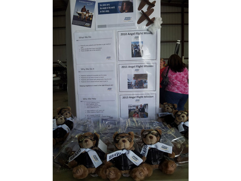 Image of Girl Scouts and Boy Scouts table display